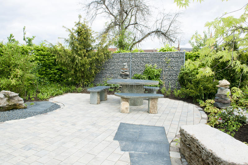 Modern patio royalty free stock photography