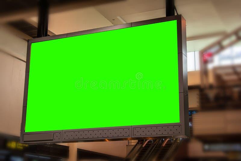 Outdoor em branco no terminal imagem de stock royalty free