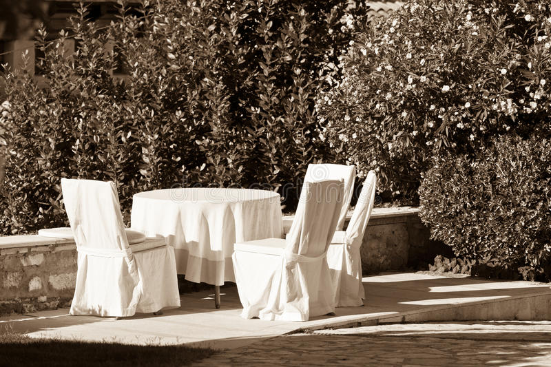Summer Table And Chairs Part - 20: Download Outdoor Empty Summer Cafe Table With Chairs Royalty Free Stock  Images - Image: 35784949
