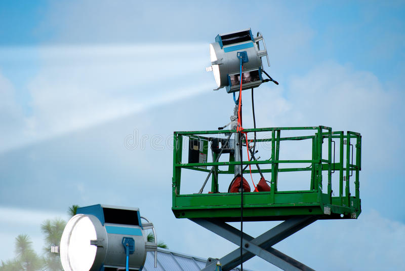 Download Outdoor Event Powerful Spot Lights Stock Image - Image of electric, stage: 26582387