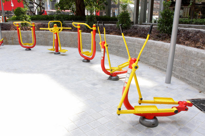 Download Outdoor Exercise Equipment stock photo. Image of trainer - 24477284