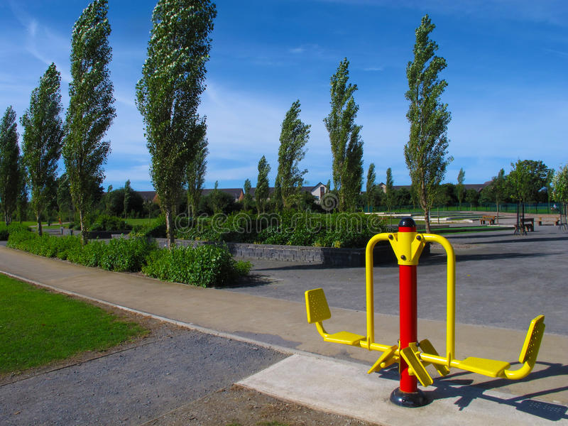Outdoor Exercise Machine Stock Image