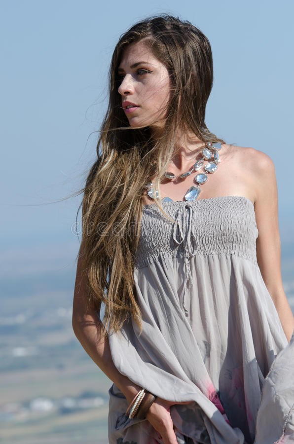 Outdoor fashion shoot stock photos