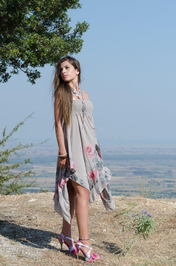 Outdoor fashion shoot stock photography