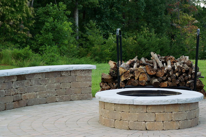 Outdoor Fire Pit royalty free stock image
