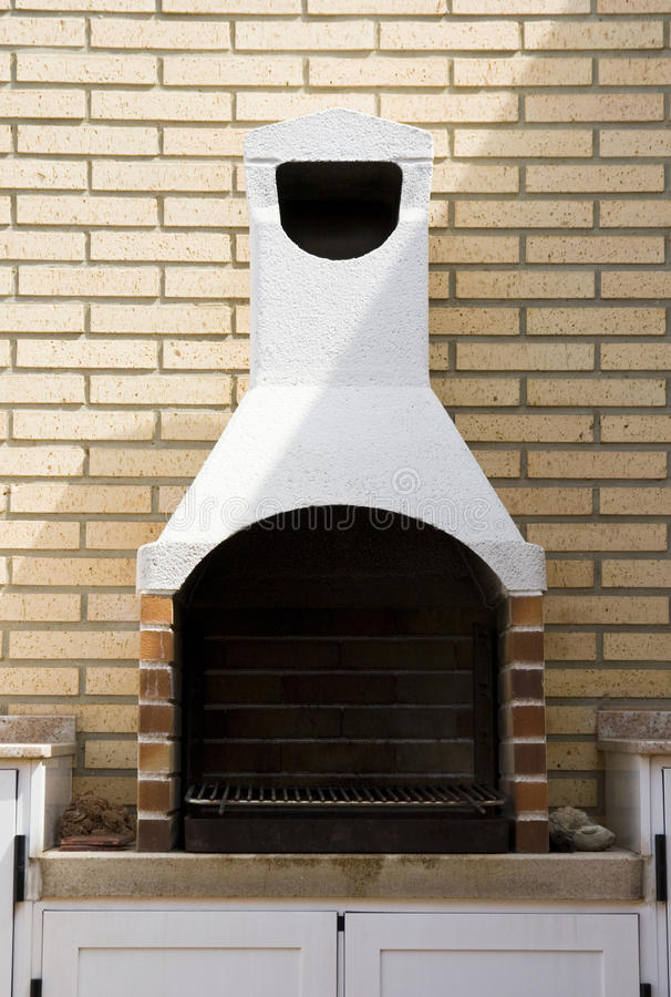 Outdoor fireplace royalty free stock photography