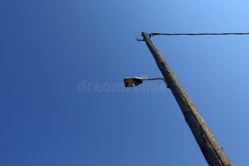 Outdoor floodlight on pole royalty free stock photo