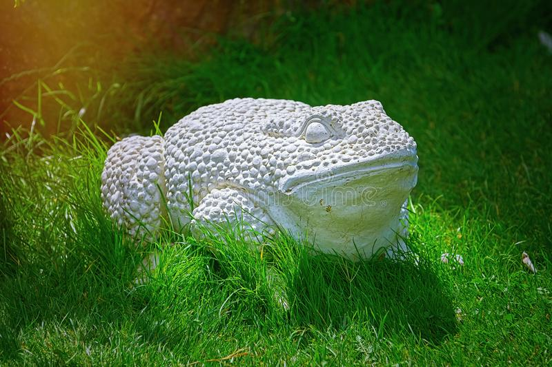 Outdoor Frog Statue royalty free stock image