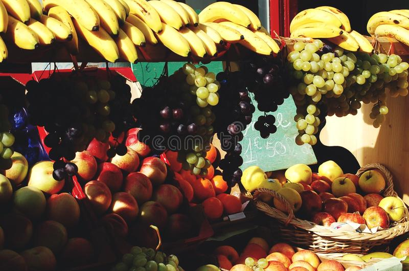 Outdoor Fruit Stand in Nice France royalty free stock photography