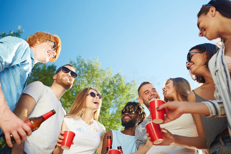 Outdoor gathering stock photography