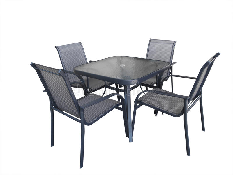 Download Outdoor Glass Table And Chairs Stock Image   Image Of Outdoors,  Objects: 13841943