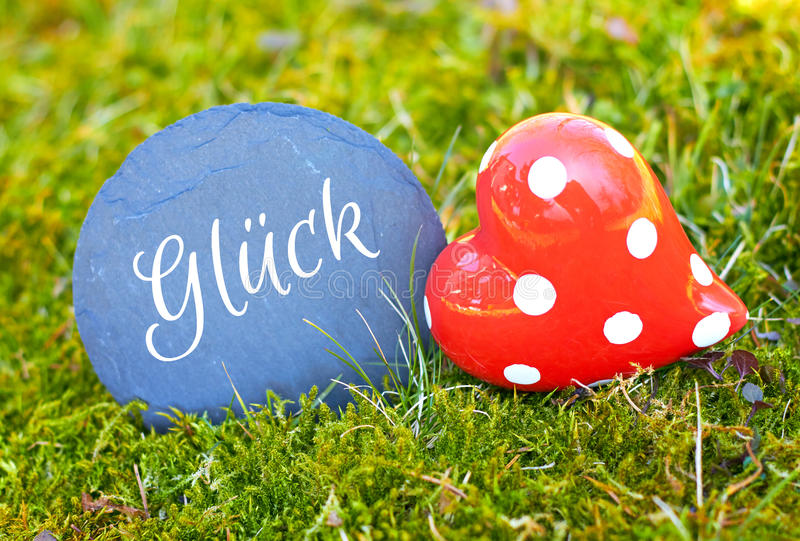 Outdoor greeting card - luck stock photo