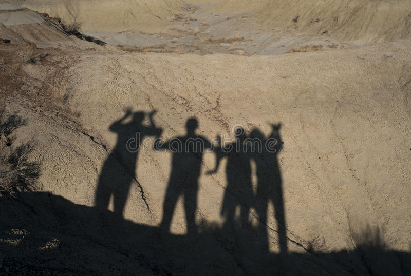 Outdoor group silhouette royalty free stock images