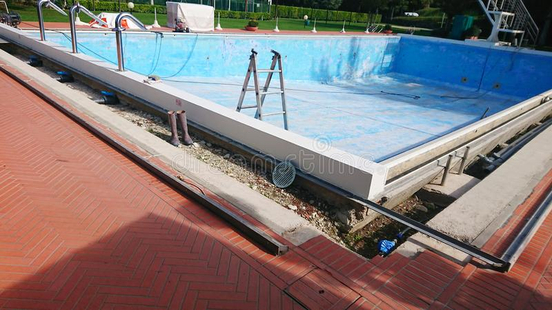 Outdoor Holiday Swimming Pool Renovation royalty free stock photography