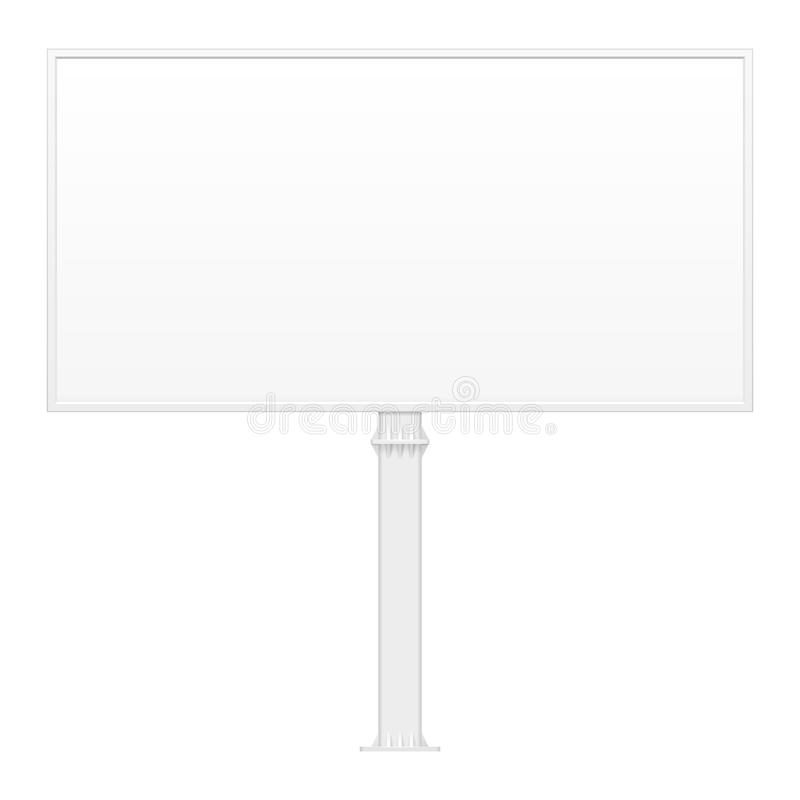 Outdoor Indoor Billboard Advertising Banner Shield Panel Display, Advertising. Mock Up Products Isolated. royalty free illustration
