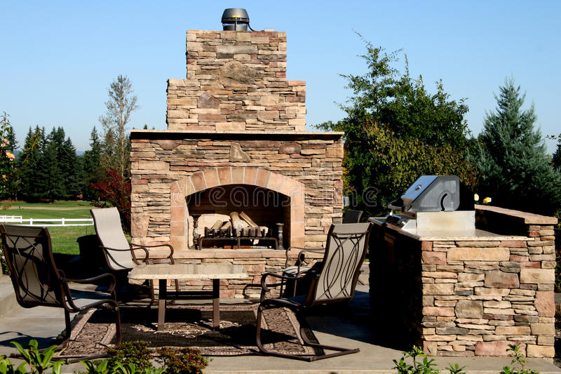 The Outdoor Kitchen royalty free stock photography