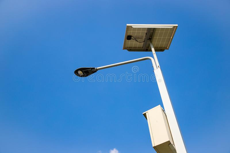 Outdoor LED Lighting, Cloud and blue sky.  royalty free stock image