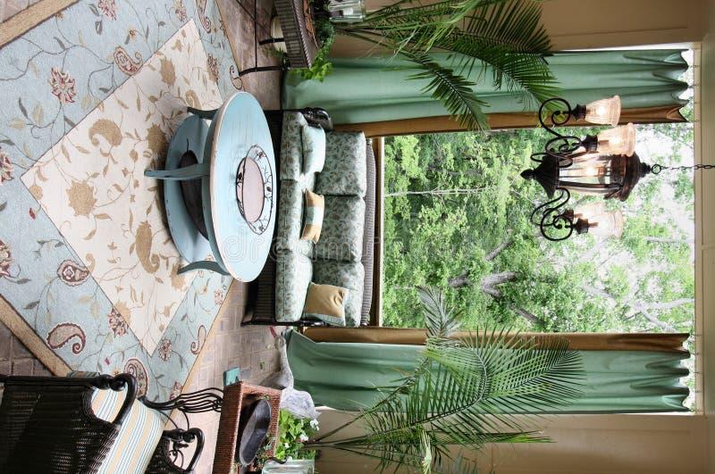 Outdoor Living. An open air outdoor living space stock photos