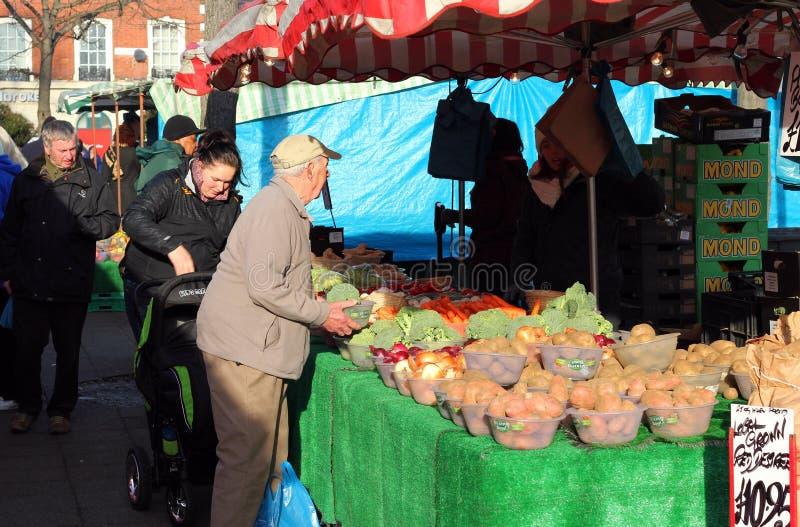 Outdoor market, Bedford, UK. royalty free stock image