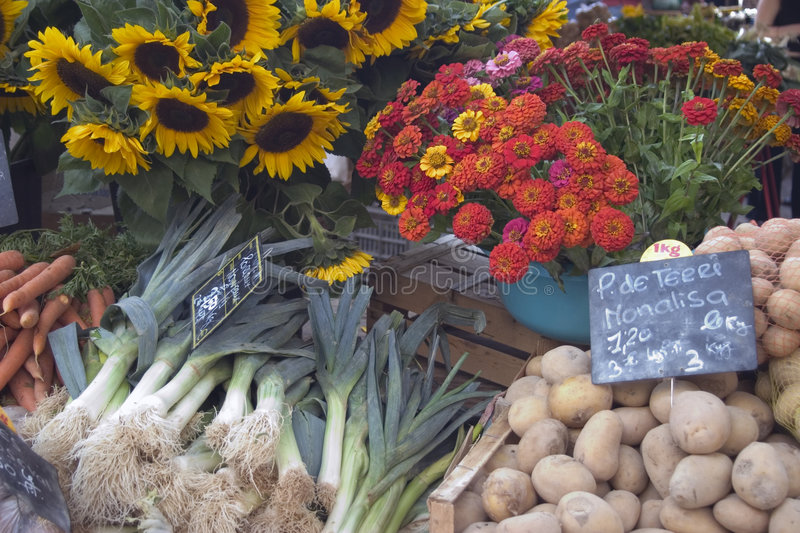 Outdoor Market - Provence, France stock images