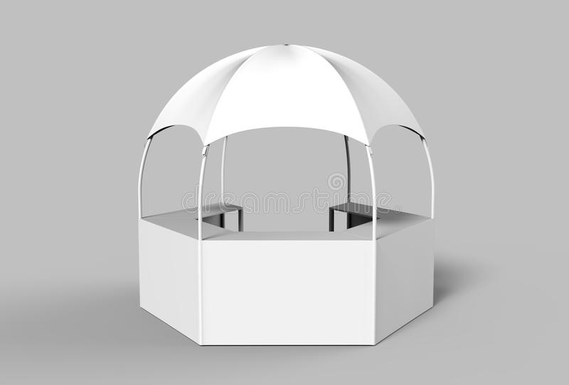 download outdoor multi functional trade show display dome kiosk hexagonal pavilion canopy tent with promotional counters
