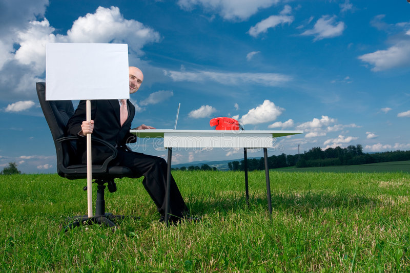 Download Outdoor office stock photo. Image of chair, forties, shows - 5465530