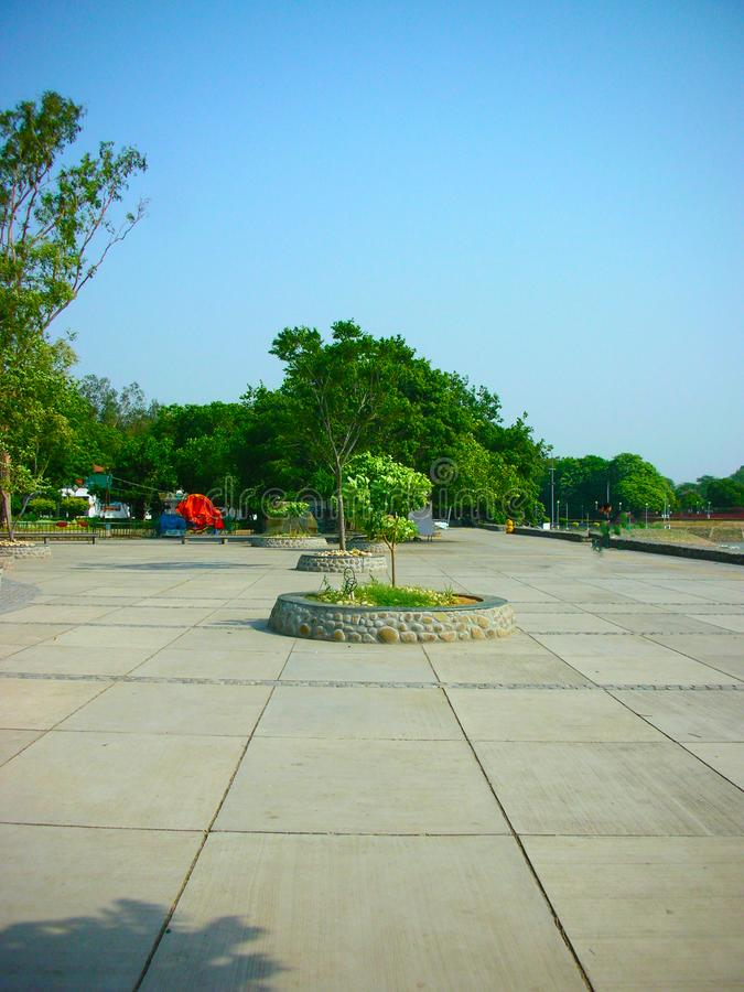 An outdoor park in chandigarh India. A landscape view of an outdoor park in chandigarh India royalty free stock image