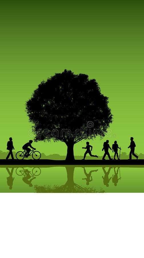 Outdoor park scene royalty free illustration