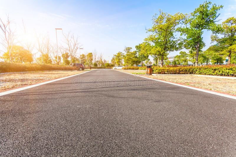 Outdoor parking road. In day stock photography