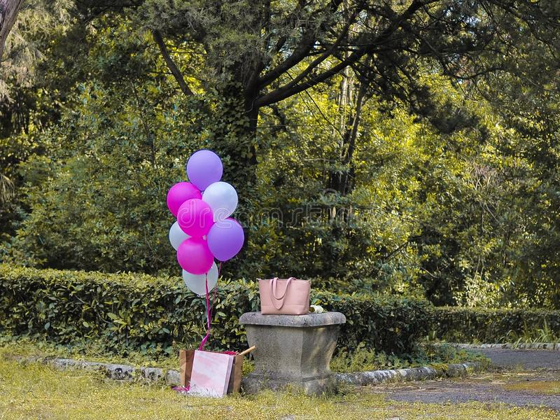 Mix of colorful balloons royalty free stock photos