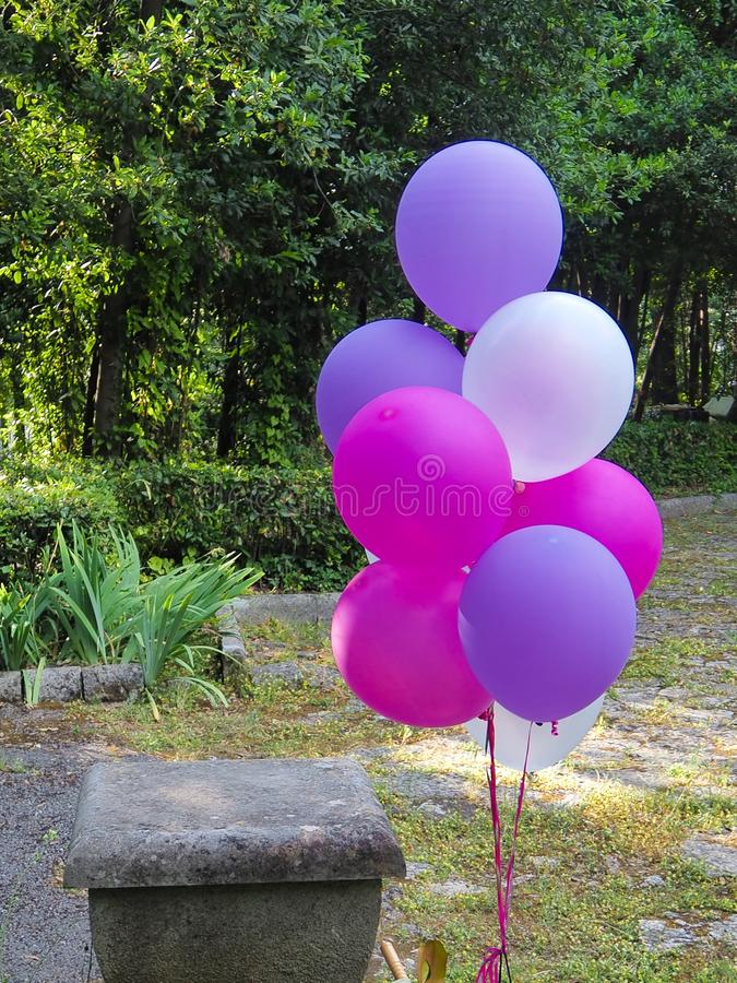 Mix of colorful balloons stock photos