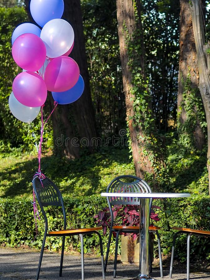 Mix of colorful balloons stock images