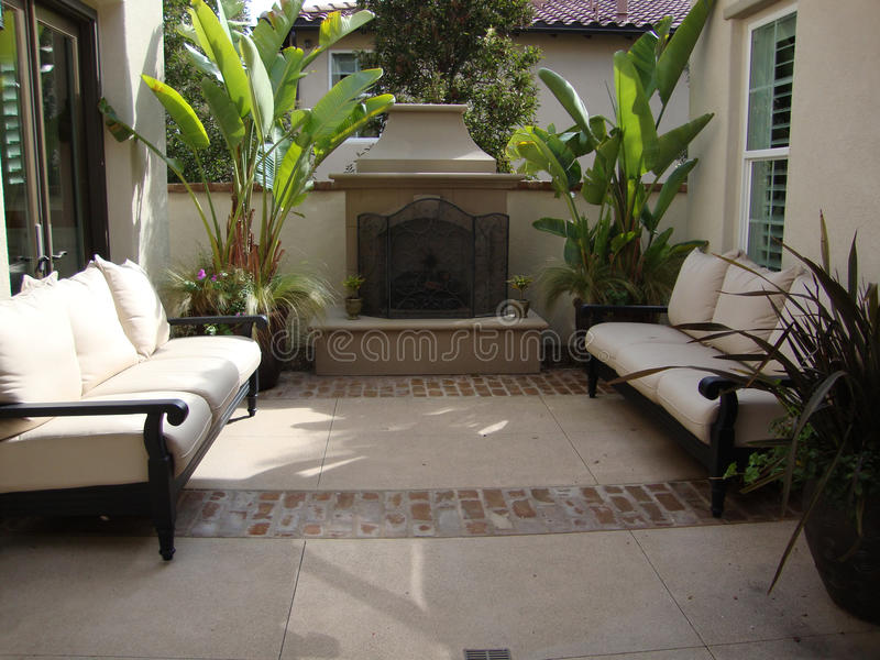 Download Outdoor Patio And Fireplace Stock Image - Image: 14401837