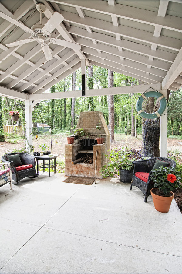 Download Outdoor Patio And Pizza Oven Stock Photo   Image Of Open,  Concrete: 9348172