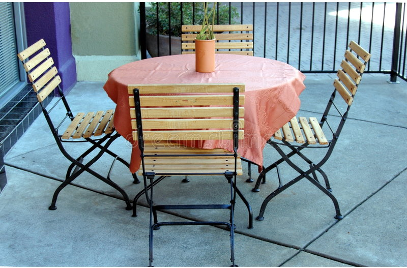Outdoor Patio Set stock images