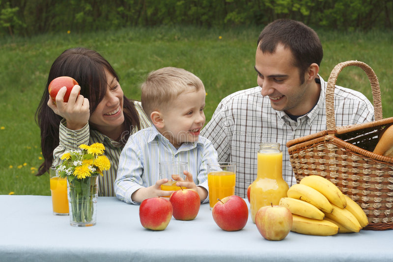 Outdoor picnic stock image