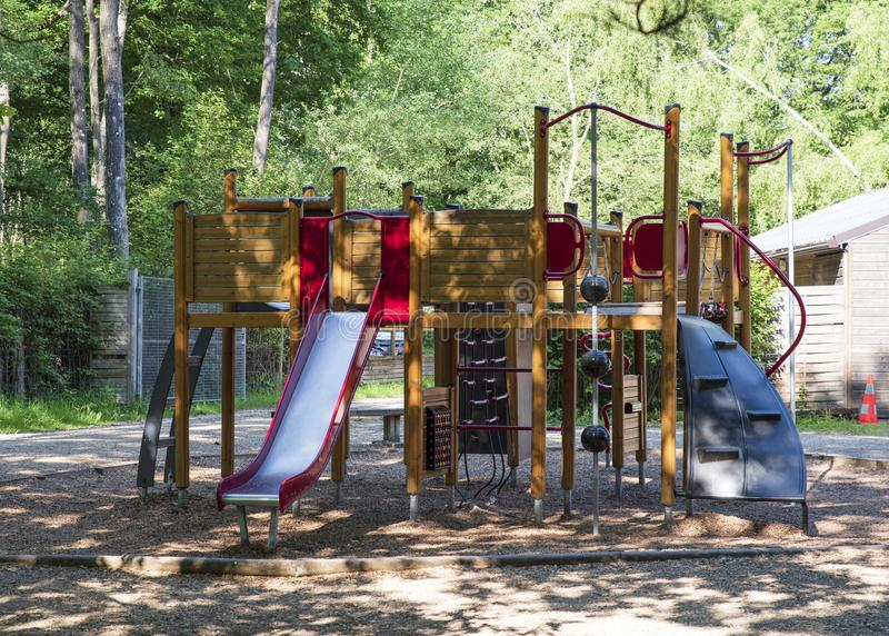 Outdoor play for children. Outdoor play area for children royalty free stock image