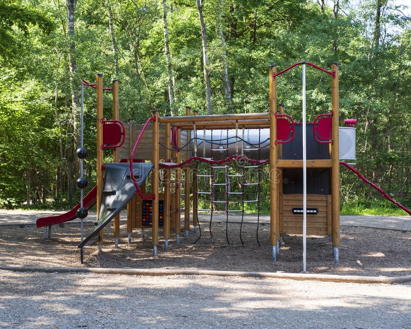 Outdoor play for children. Outdoor play area for children royalty free stock photography
