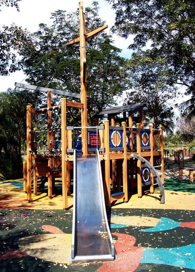 Download Outdoor playground stock image. Image of children, trees - 7601153