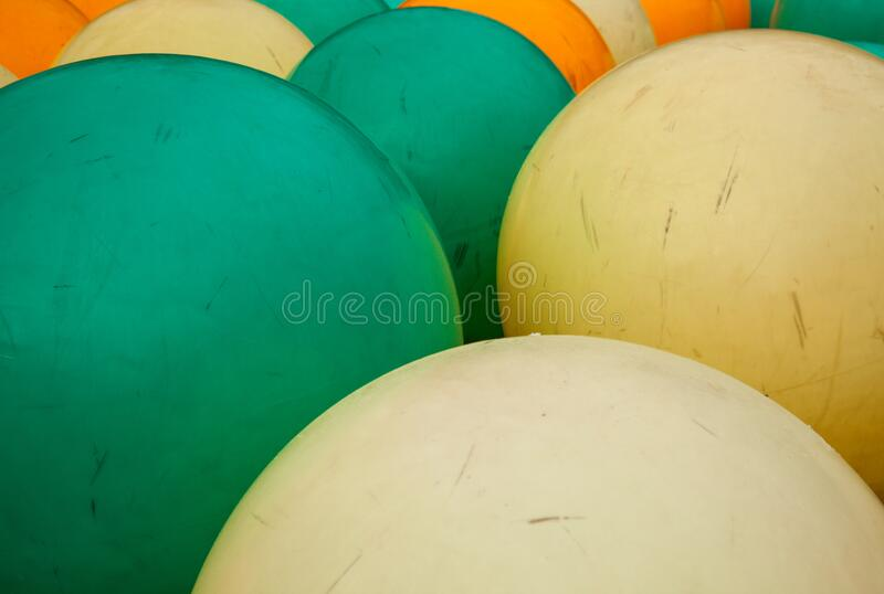 outdoor playing balls stock image