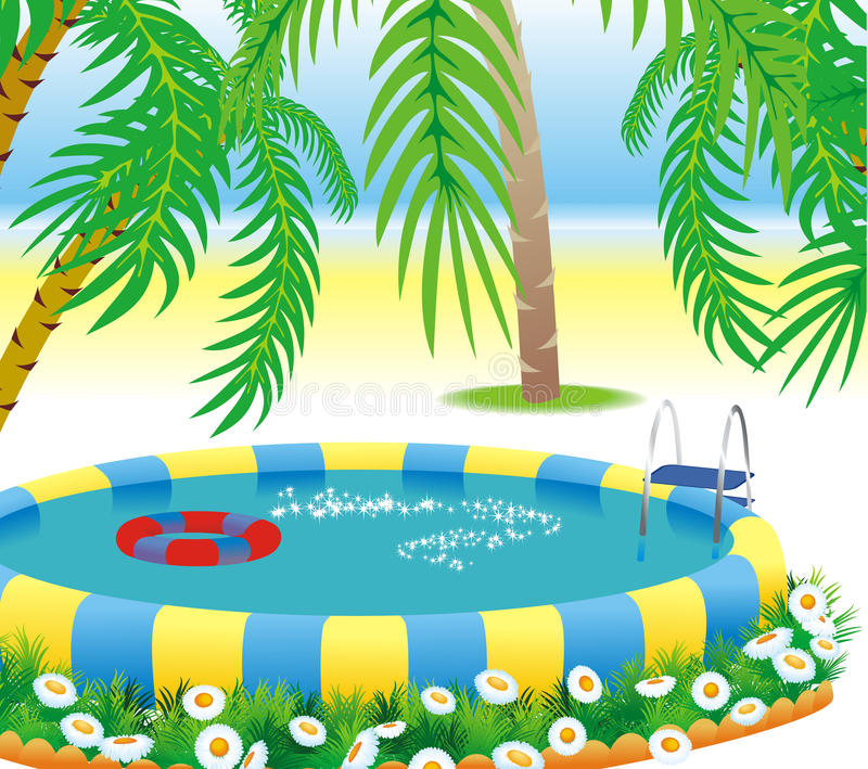 Download Outdoor pool stock vector. Image of summer, holiday, sand - 20944761