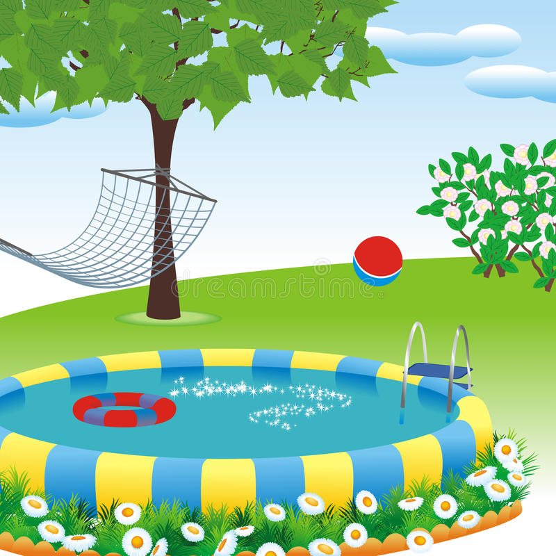 Download Outdoor pool stock vector. Illustration of party, tree - 20944794