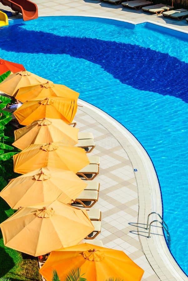 Outdoor Pool In Luxury Resort Stock Photo