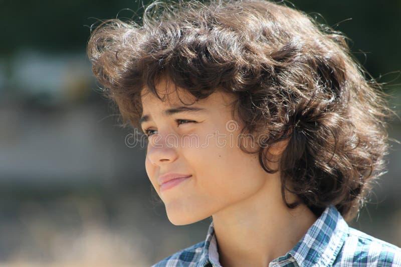An attractive teenage boy stock image