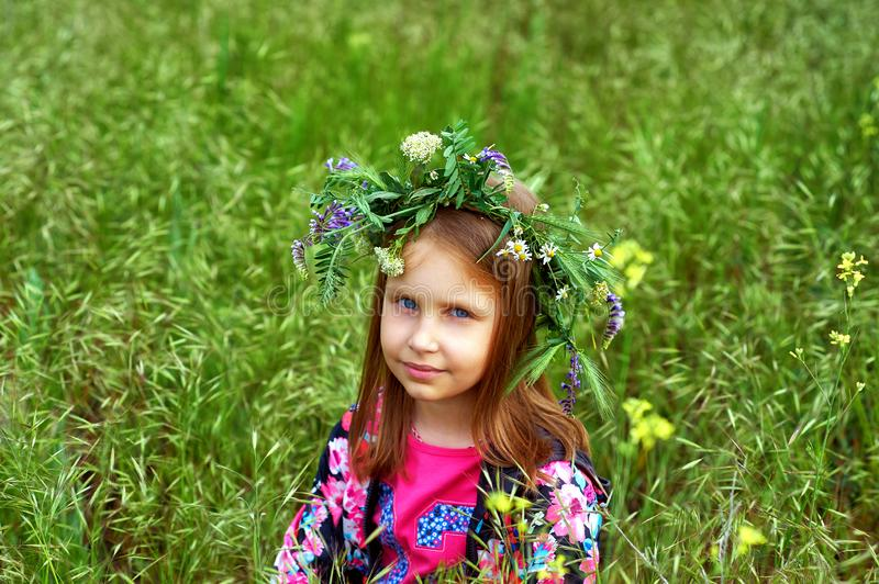 Outdoor portrait of beautiful girl outdoors stock photography