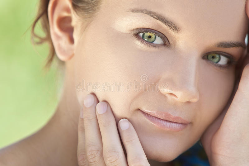 Download Outdoor Portrait Beautiful Woman With Green Eyes Royalty Free Stock Photography - Image: 17665847
