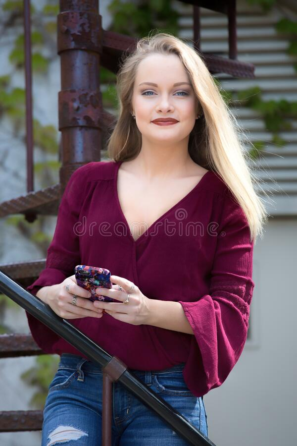 Outdoor Portrait Of Blond Haired Woman Free Public Domain Cc0 Image