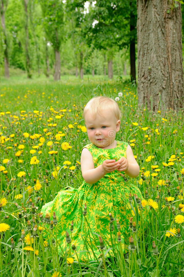 Download Outdoor Portrait Of A Cute Little Girl Stock Photo - Image of human, happy: 26528476