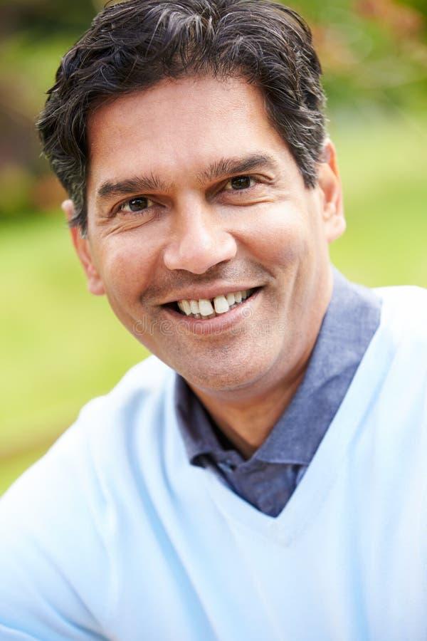 Outdoor Portrait Of Indian Man stock image