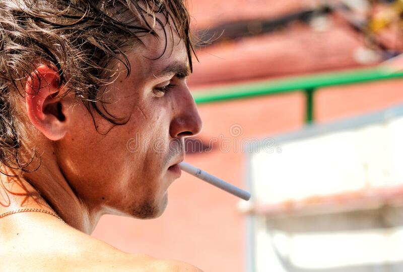 Outdoor Portrait Of Man With Cigarette Free Public Domain Cc0 Image